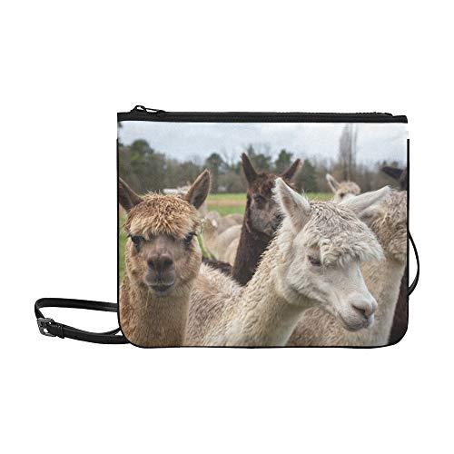 SHAOKAO Bunte Gruppe Packung Alpakas Muster benutzerdefinierte hochwertige Nylon dünne Clutch Cross Body Bag Schultertasche