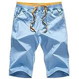 Herren Sport Beach Hose Elastische Sporthosen mit Slim fit Schnitt Besonders weich und bequem Ideale Männer Kurze Hose,Shorts Freizeithose Trend Cotton 4 M