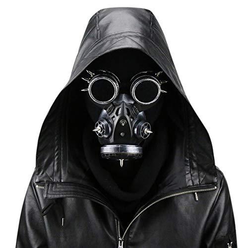 Männer/Frauen Halloween Cosplay Gasmaske, Retro Steampunk Antigas Maske Maskerade Kostüm Party Requisiten silber