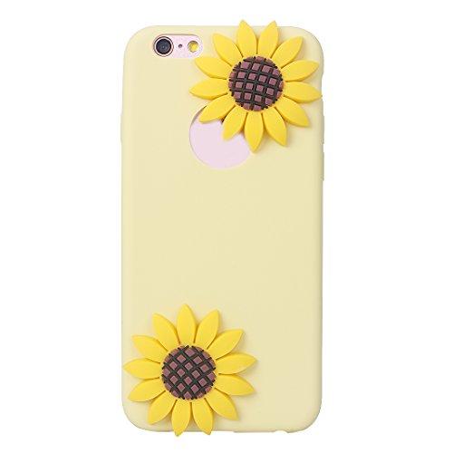 iPhone 6S 3D Silikon Hülle Rosa Schleife Weiche Silikon Back Cover 3D Niedlich Frucht Muster Bumper Handyhülle Schale für iPhone 6 / 6S Banane Wassermelone Ananas