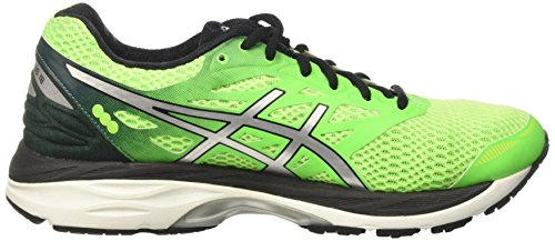 Asics Gel-cumulus 18, Entraînement de course homme Verde (Green Gecko/Silver/Safety Yellow)