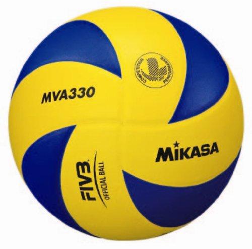 Mikasa MVA-330 - Balón de voleibol, color azul / amarillo, talla 5