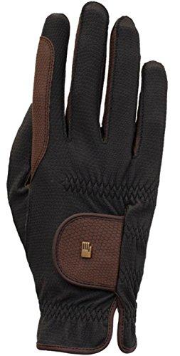 Roeckl Sports Winter Handschuh Malta, Unisex Reithandschuh, Schwarz/Mokka, 9,5