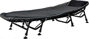 Angelspezi 8-Bein Luxus Karpfenliege Bedchair mit Matratze