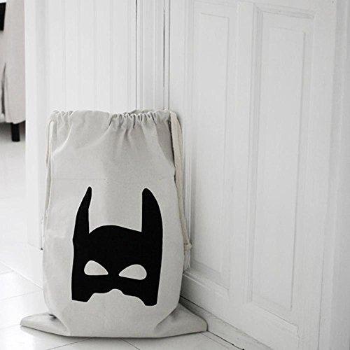 1pc schöne Leinwand Aufbewahrungstasche Spielzeug Baby-Spielzeug Befestigungs Beutel-Organisator Anziehen Batman