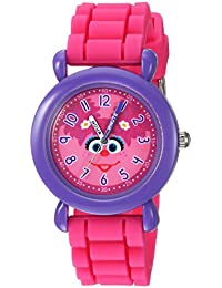 eWatchFactory Girl's 'Sesame Street' Quartz Plastic and Silicone Casual Watch, Color:Pink (Model: WSS000032)
