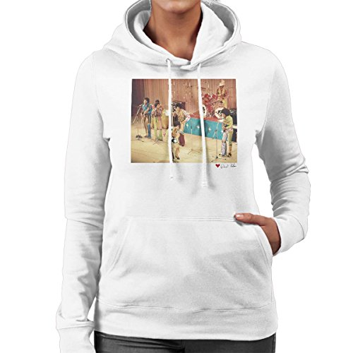 Don't Talk To Me About Heroes David Redfern Official Photography - The Jackson 5 At The Royal Variety Performance White Women's Hooded Sweatshirt