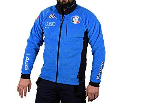Kappa 6CENTO 687 FISI, Felpa in Pile Uomo - Federazione Italiana di Sci (Azzurro Italia, XL)