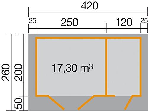 weka Gartenhaus 253, 28 mm mit Nebenraum