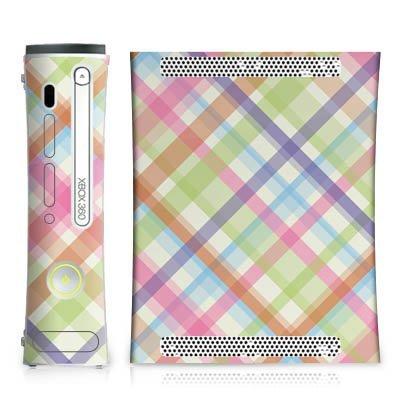 microsoft-xbox-360-case-skin-sticker-aus-vinyl-folie-aufkleber-pastell-karo-bunt-muster