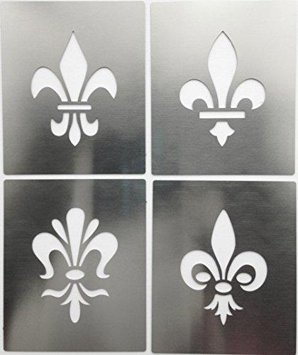 metal-monkey-fleur-de-lis-lys-tudor-emblem-motif-stainless-steel-stencil-4cm-x-3cm-set-of-4