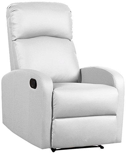 Tuoni Spike Poltrona Relax Finta bianco pelle - Confronta prezzi.