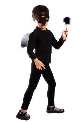 EL01, 3 teiliges Fledermaus Set mit Flügeln, einer Maske und dem Stab. Für Größe 92-146