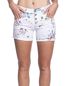 [Patrocinado]Abbino IG001 Corto Pantalones para Mujeres Colores Variados - Elegantes Casual Transición Otoño Invierno Femeninas...