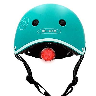Micro Children's Deluxe Helmet Aqua Small 48-53Cm Boy Girl Scooting Bike Skatepark High Spec from Micro