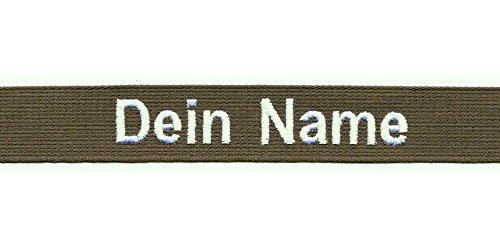 Smart Namensschild OHNE KLETT - Bestickt mit eigenem Namen/Text - diverse Farben möglich (135mm) - personalisiert
