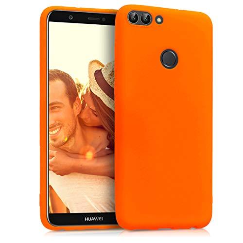 kwmobile Huawei Enjoy 7S / P Smart Hülle - Handyhülle für Huawei Enjoy 7S / P Smart - Handy Case in Neon Orange