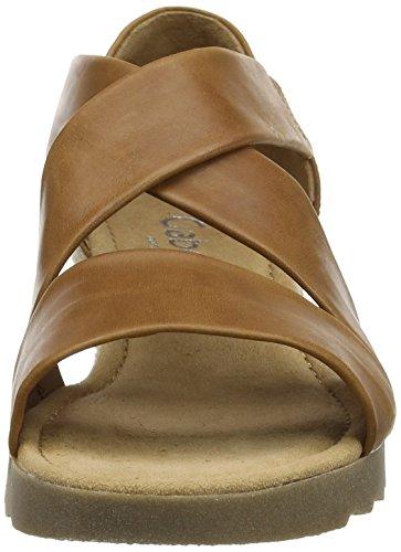Gabor Shoes Damen Comfort Offene Sandalen Braun (peanut(Jute/ambra) 55)