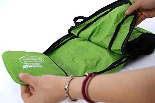 FakeFace Unisex Rucksack Faltrucksack Reisetasche Wanderrucksack Picknickrucksack Wasserdicht Tasche Daypack Tragetasche Grün