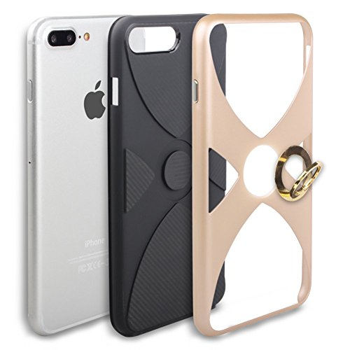 iPhone 6S Coque DWaybox Hybrid Heavy Duty Armor Hard Back Housse Coque avec 360 Degree Rotation Ring Holder Design pour Apple iPhone 6S / 6G 4.7 Inch (Silver) Gold