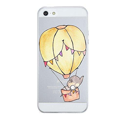 Qissy® iPhone 5 SE 5S Hülle Weiche Silikon Schutzhülle TPU Bumper Case Leichte kratzfeste stoßdämpfende Hülle Kreative, verrückte Serie (iPhone 5 SE 5S, 1) 13