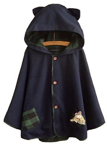 hqclothingbox-womens-cute-button-down-tweed-cat-ears-hooded-cape