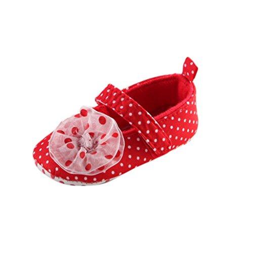 Ouneed® Krabbelschuhe , Weihnachten Baby Säuglingskind Mädchen weiche alleinige Krippe Kleinkind neugeborene Schuhe Rot