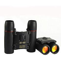WH Binoculares con el Día Y la Noche 30X60 Veces Telescopio Hd Infrarrojos Luz de la Noche de Visión Binoculares,Negro,30X60