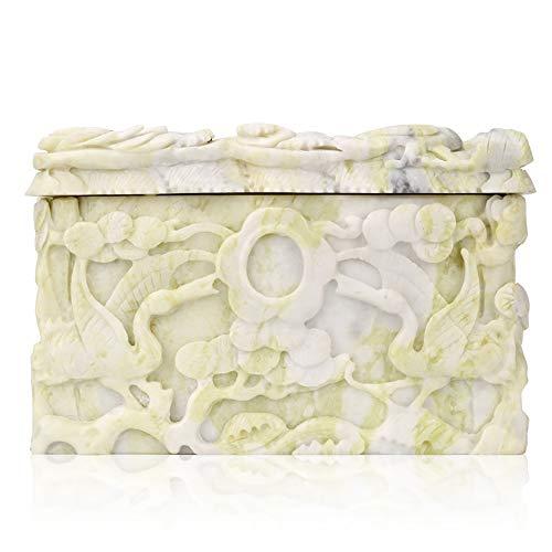 QNMM Jade Natural Puro Piedra Ataúd para Mascotas Patrón Exquisito Jade Piedra Mascota Ataúd Funerario para El Funeral De Mascotas Gatos Y Perros Adecuado para Mascotas Pequeñas Y Medianas
