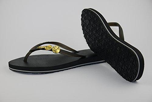 COVY'S jandals black/black #5118 women (Zehentrenner, Sandale, DIY, Pins) Black/Black