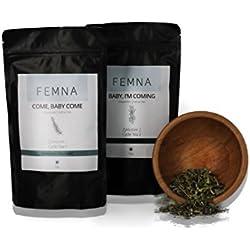 Baby Come Kräutertees - Anregende Tees zur Vorbereitung auf eine Schwangerschaft - Harmonisierende, spezielle Kräutermischung für das große Glück | FEMNA - die natürliche Alternative für Frauen 50 g