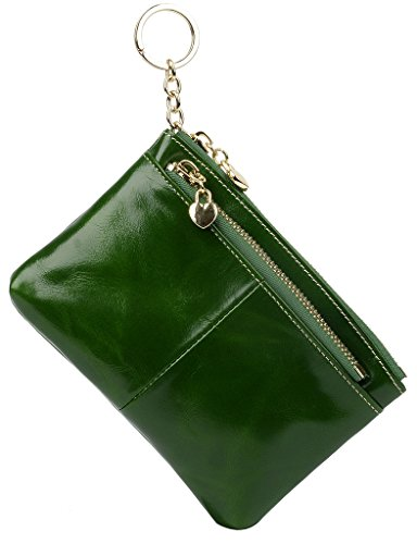 yaluxe-donna-luxus-cera-pelle-karten-halter-cerniera-moneta-borsa-con-anello-portachiavi-verde
