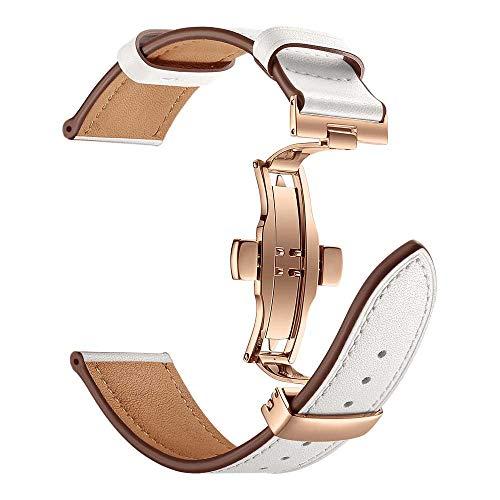 TianranRT Butterfly Schnalle Leder Armbanduhr Armband Band Schmetterling Lederarmband für IWatch 4 Apple Watch 40/44mm (Apple Fräser)