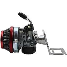 GOOFIT Filtro Rendimiento Carb carburador Aire Asamblea 47cc 49cc mini bolsillo Bici roja