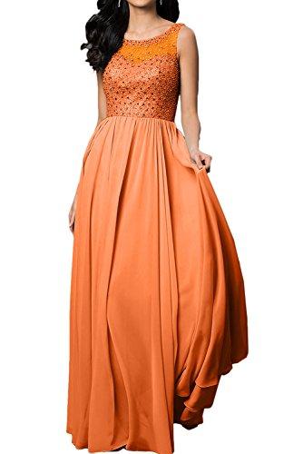 Toscane mariée chic une épaule fente longue de soirée en chiffon abendkleider promkleider demoiselle d'honneur Orange