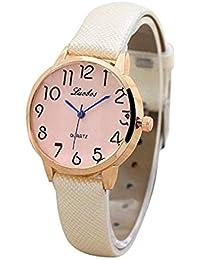 3a4d08352090 Scpink Relojes de Cuarzo de Las Mujeres Reloj de Pulsera Simple dial  Digital Reloj de Las
