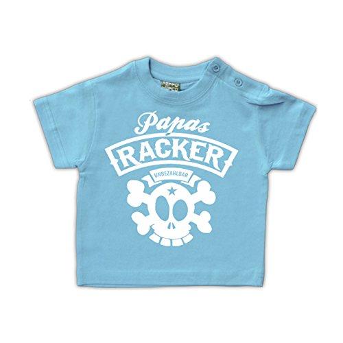 Baby T-Shirt Papas Racker Hellblau