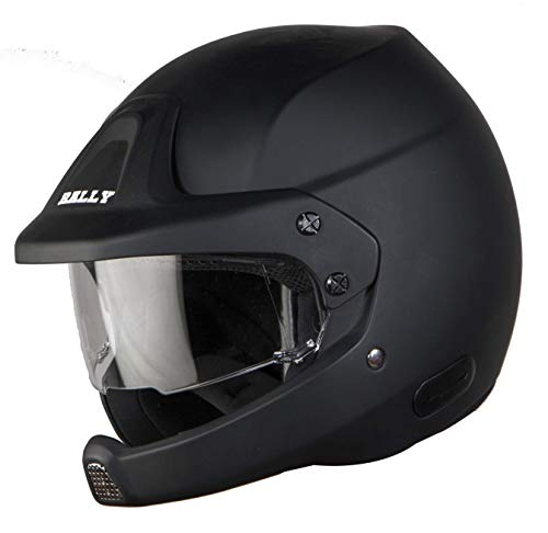 Steelbird SB-51 7Wings Rally Open Face Helmet (Large 600 MM, Matt Black)