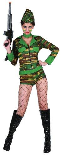 Bristol Novelties - Disfraz de soldado para mujer (AC217)