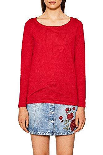 ESPRIT Damen Pullover 087EE1I026 Rot (Red 630) X-Small (Herstellergröße:XS)
