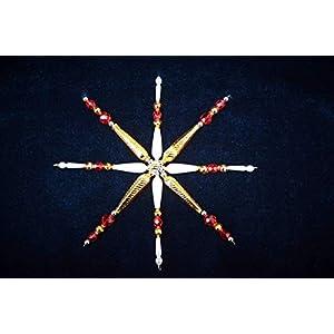 Weihnachtsstern ca. 14 cm Ø aus böhmischen Hohlglasperlen