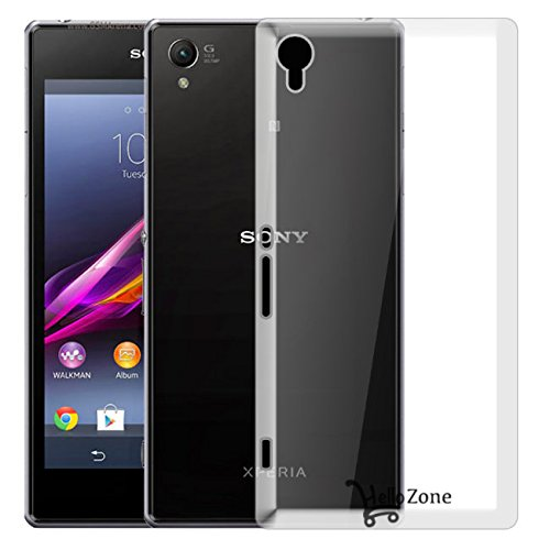 Hello Zone Exclusive Soft Transparent Crystal Clear Back Cover Back Case Cover For Sony Xperia Z1  available at amazon for Rs.149