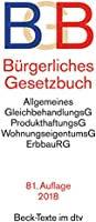 Bürgerliches Gesetzbuch BGB: mit BGB-Informationspflichten-Verordnung, Allgemeinem Gleichbehandlungsgesetz, Produkthaftungsgesetz, ... und Erbbaurechtsgesetz