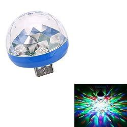 Bescita USB Stab Tragbare Magischer Lampe ┃ NEU ┃ Wizzard ┃ Mitgebsel ┃ Kindergeburtstag ┃ Fasching ┃ Licht & KTV Weihnachten Magische Telefon Ball Lampe (Blue)