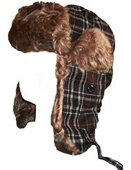 Chapka mixte homme femme bonnet chapeau tartan à rayures plusieurs couleurs