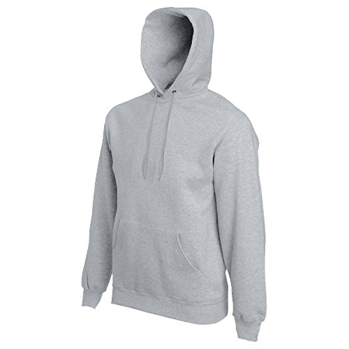 Fruit of the Loom - Kapuzen-Sweatshirt 'Hooded Sweat' M,heather grey M,Heather Grey (Hoodie Sweatshirt Pullover)