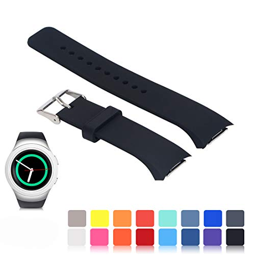 Für Samsung Gear S2 SM-R720/R730 Wiedereinbau UhrBand, iFeeker Zubehör Soft Silikon Armband Smartwatch Band für Samsung Galaxy Gear S2 SM-R720/SM-R730 -