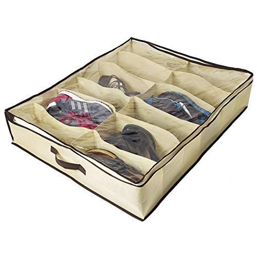 Oplon 12 Grid Schuhe Lagerung Shoebox Folding Organizer Schrankordnungssysteme Non-Woven tragbar transparent