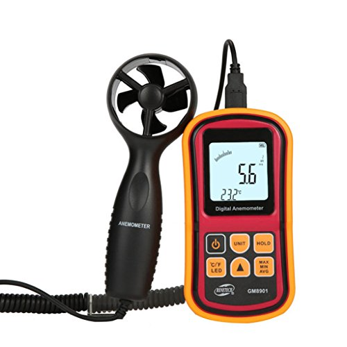 Windmesser Anemometer, Wetter Monitore, Meter Luftstrom, Luftqualität, Digital Precision Windgeschwindigkeit Tester (Wetter Meter Anemometer)