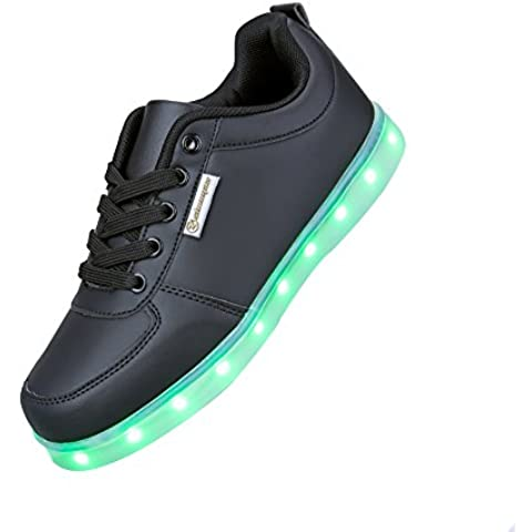 Angin-Tech LED Zapatos 7 Color de la Zapatilla con Luces de Deporte de Zapatos con la Carga del USB para el con el CE